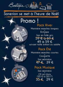 Boutique Sonerion : Offres Noel 2020